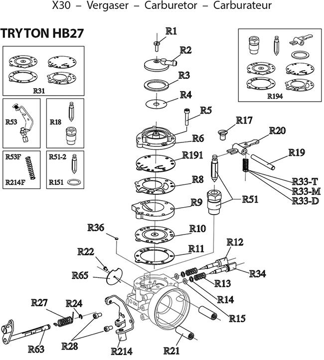 Vergaser Tryton HB27