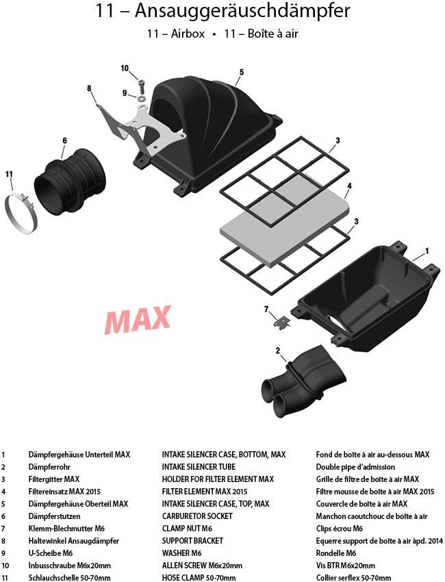 11 - Ansauggeräuschdämpfer 2015 MAX