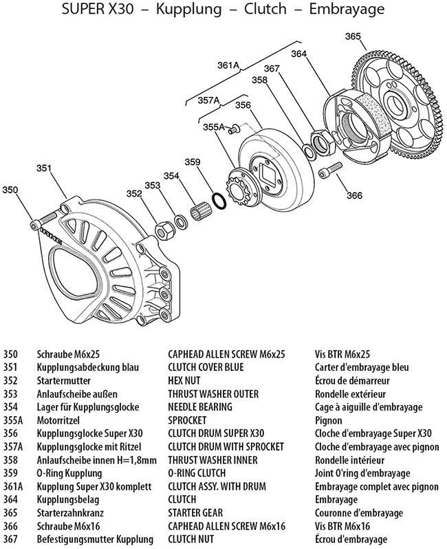 Kupplung Super X30