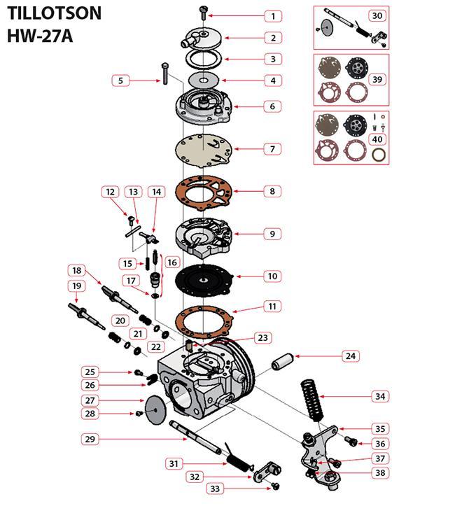 Vergaser Tillotson HW-27A