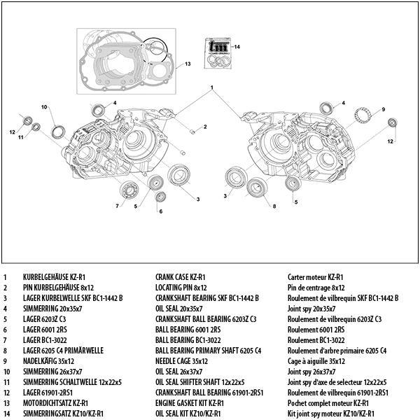 Kurbelgehäuse KZ-R1