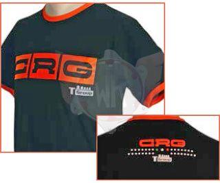 T-Shirt CRG schwarz/orange Größe XL