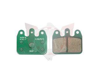 Satz Bremsbelag hinten V05/V09/V10/V11 grün