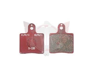 Satz Bremsbelag vorn V05/V09/V11 rot