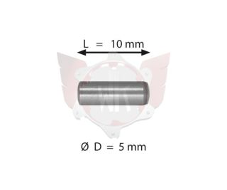 PIN  5X10mm GLATT