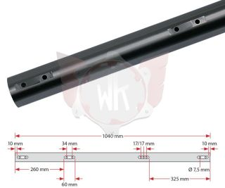 ACHSE KZ 1040x50x2mm EXTRA HART, SCHWARZ