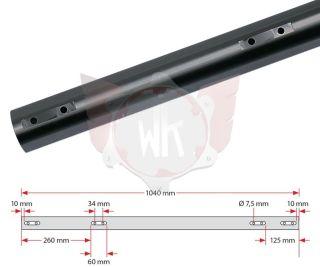 ACHSE KF 1040x50x2mm HART, SCHWARZ