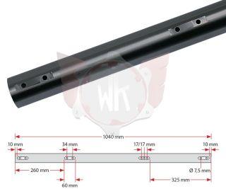 ACHSE KZ 1040x50x2mm SOFT, SCHWARZ