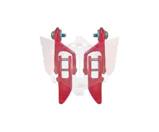 LB Hinge Pack Aluminium red/pair