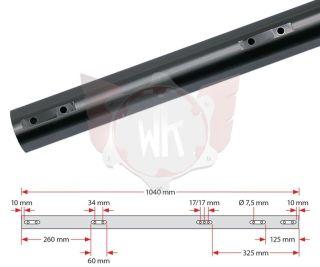 ACHSE 1040x50x2mm MITTEL 125ccm, SCHWARZ