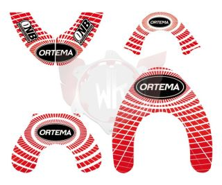 ORTEMA STICKER KIT ROT GRÖSSE S