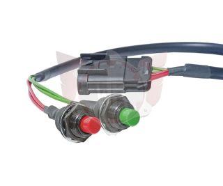 Starterknopf (grün) & An-Aus-Schalter (rot)