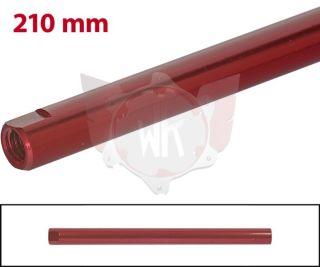 SPURSTANGE RUND 210mm  ROT ELOXIERT