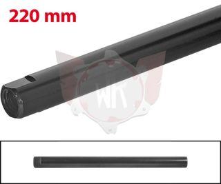 SPURSTANGE RUND 220mm  SCHWARZ ELOXIERT