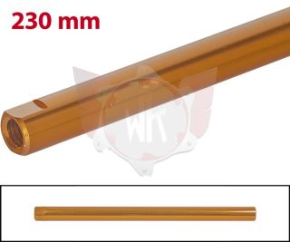 SPURSTANGE RUND 230mm  ORANGE ELOXIERT