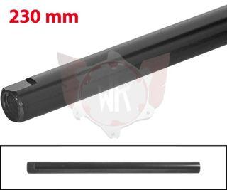 SPURSTANGE RUND 230mm  SCHWARZ ELOXIERT