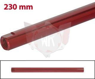 SPURSTANGE RUND 230mm  ROT ELOXIERT