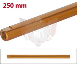 SPURSTANGE RUND 250mm  ORANGE ELOXIERT