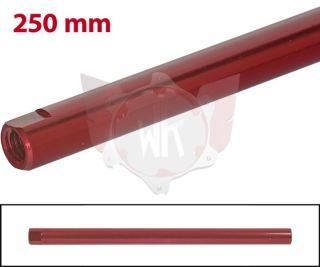 SPURSTANGE RUND 250mm  ROT ELOXIERT