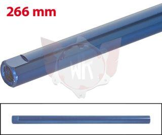 SPURSTANGE RUND 266mm  BLAU ELOXIERT